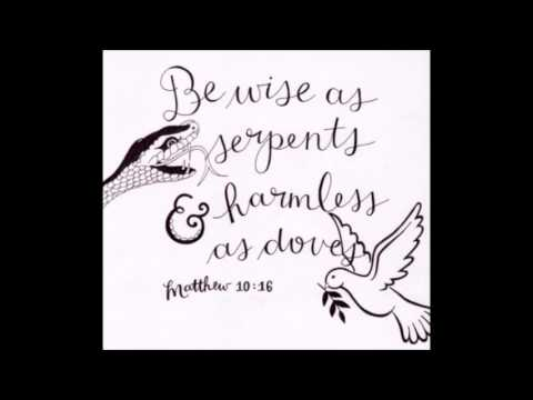 BE WISE AS SERPENTS BUT GENTLE AS DOVES