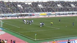 G大阪VS神戸遠藤保仁フリーキック