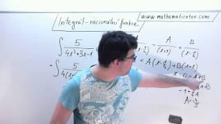 Integrál - Racionální funkce 3.1.2015