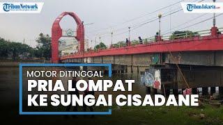 Pria di Tangerang Lompat dari Jembatan Merah ke Sungai Cisadane, Tinggalkan Motor di Pinggir Jalan