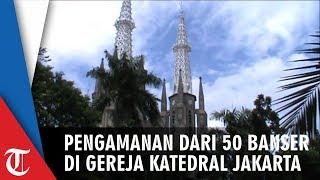 Jumat Agung Gereja Katedral Jakarta, 50 Personel Banser Melakukan Pengamanan