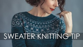 Sweater Knitting: How To Knit A Gauge Swatch In The Round