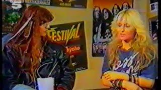 Doro - Dortmund 30.04.1989 TV-Report (Live & Interview)