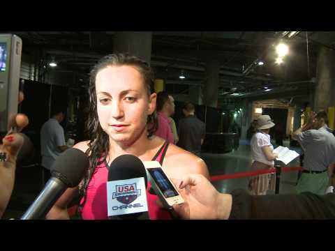 Rebecca Soni   Mixed Zone Interview D2   100 Breast Semis