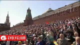 Парад победы 9 мая 2014 в Москве на Красной площади Путин Техника Авиация
