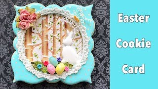 Beautiful Easter Cookie Card.