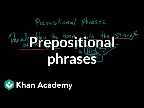 Diagram Prepositional Phrases Pioneer Deh 2200ub Wiring Video Khan Academy
