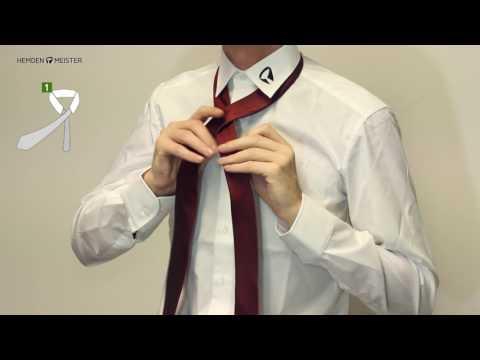Krawatte binden - aber richtig - Der Halbe Windsor Knoten
