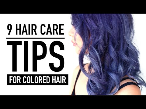 Video 9 Hair Care Tips & Products ♥  New Color REVEAL! ♥ Hair Routine for Colored Hair ♥ Wengie