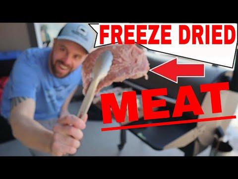 FREEZE DRIED MEAT Steak Pork Chops Chicken Shrimp Bacon Hamburger