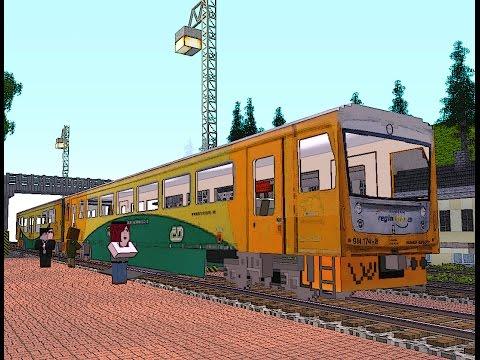 Diesel train CD814 REGIONOVA (for real train mod) + testing
