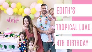 Tropical Luau Themed Birthday Party For Little Girls