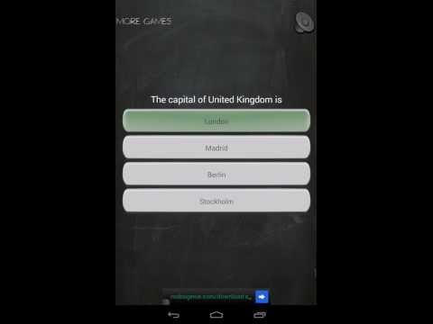 Video of Capitals Quiz