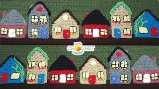 Crochet Houses & Town - Folk Art Calendar Blanket 2019 - June