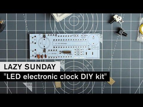 LAZY SUNDAY: LED electronic clock DIY kit