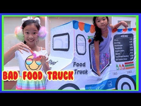 Pretend Play Ice Cream Food Truck with Ryan's Toy Review Toys ( Fast Food Challenge )