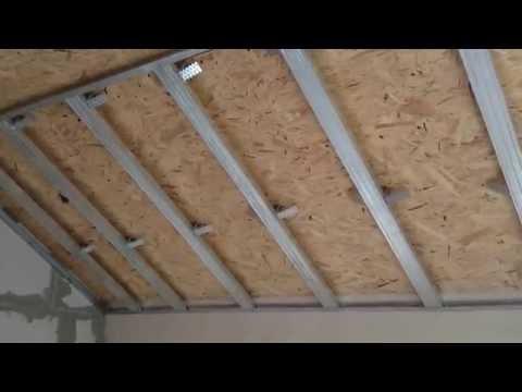 Гипсокартонный потолок на мансарде, как сделать разметку. Drywall ceiling.
