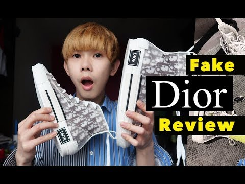 S1E6-Best Fake Dior B23 High Top Converse Sneakers Unboxing Review 2019, Replica Designer Shoes Haul