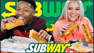 Subway Mukbang With Nicole🥖🥙 (NEW Ultimate Meatball Marinara)