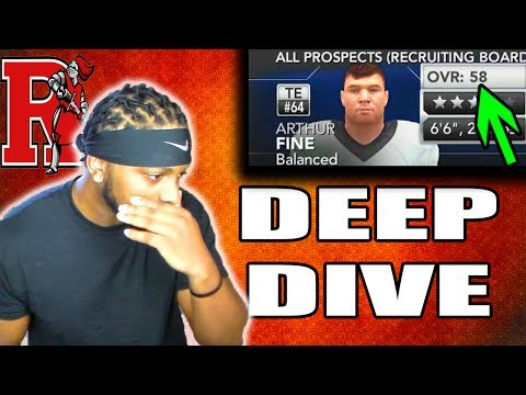 Waited Too Long To Get A Tight End!!! Rutgers Deep Dive NCAA FOOTBALL 14 DYNASTY