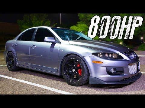 800HP Mazdaspeed6 battles V8's on the STREET!