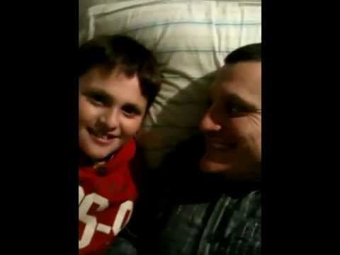 Seth and Dad on Helium APP