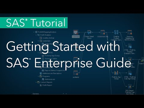 SAS Tutorial | Getting Started with SAS Enterprise Guide (Quickstart)