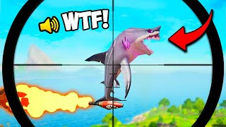 *FIRST EVER* ROCKET RIDING SHARK!! (0.001% CHANCE) - Fortnite Funny Fails and Moments! #1049