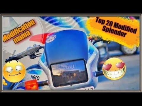 Top 20 Modified Hero splendor  Modification mania  #modificationmania
