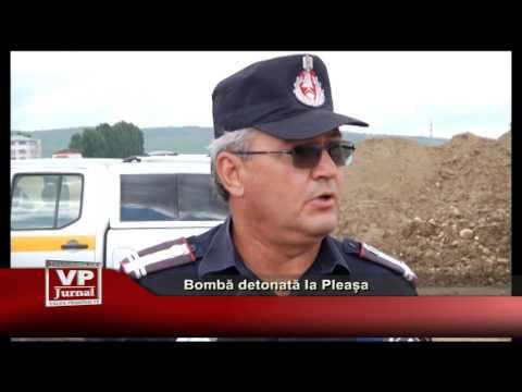 BOMBĂ DETONATĂ LA BUCOV
