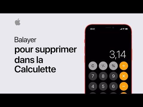 Musique pub Apple Balayer pour supprimer dans la Calculette | Assistance Apple    Juillet 2021