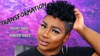 SHORT HAIR SHAVED SIDES TRANSFORMATION