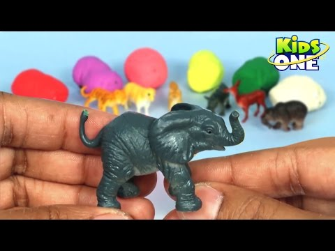 Learn Animals Names with Play Doh | Surprise Toys Collection for Children