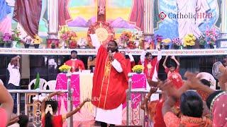 """Do Not Worry"" (Rev.Fr.JayaRaju) @ Kanukamatha Church, Rentachinthala,Guntur.AP,INDIA,03-07-16"