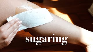 HOW TO WAX YOUR LEGS AT HOME W/ DIY Sugar Wax