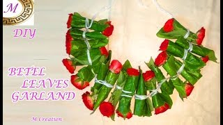How To Make BETEL LEAVES GARLAND For Hanuman