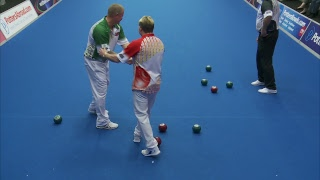 Just. 2019 World Indoor Bowls Championships: Day 3 Session 3
