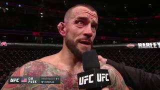 UFC 203: Mickey Gall and CM Punk Octagon Interview