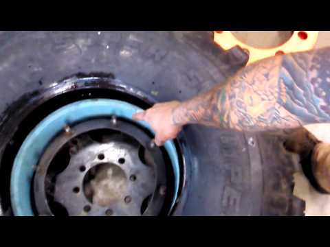 Trail worthy Fab beadlock Assembly, H1 run flat wheels PVC inserts