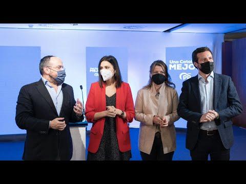 Pablo Casado interviene en el acto de inicio de la campaña de las elecciones catalanas