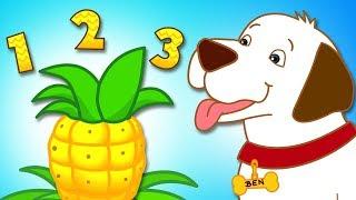 Learn Fruits with One Pineapple Song | Cartoon Nursery Rhymes & Kids Songs by HooplaKidz
