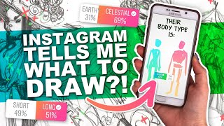 ITS YOUR FAULT! lol | Instagram Followers Tell Me What to Draw! | Character Design