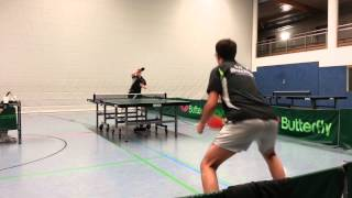 preview picture of video 'Tischtennis BJC Buchen Saison 2012/2013 Eugen Albrecht vs. Lukas Dörr'