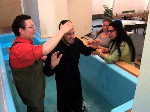 Baptism in Jesus Name at First Apostolic Church of Mishawaka Indiana 4-14-2013