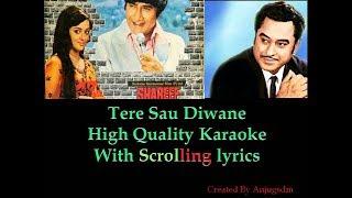 Tere Sau Diwane || Sharif Badmaash (1973) || Karaoke with