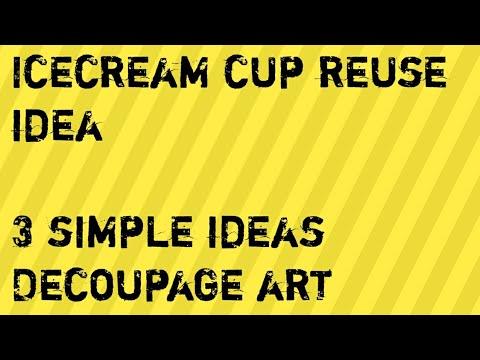 Ice cream cups reuse idea/simple designs/Mini planter