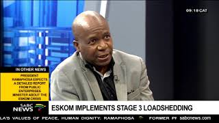 Eskom Implements Stage 3 Loadshedding
