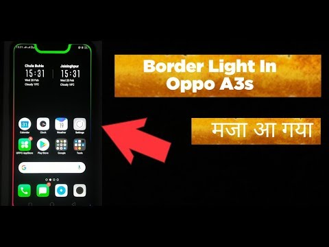 Download Border Light In Oppo A3s And All Notch Android