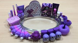 Special Series PURPLE Satisfying Slime Videos | Mixing Random Things into Clear Slime | Slime Mixing