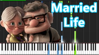 Married Life - Up [Piano Tutorial] (Synthesia) // PianoMavs